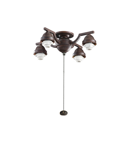 Kichler Lighting 4 Arm Decorative Fitter Fan Fitter in Tannery Bronze 350104TZ photo