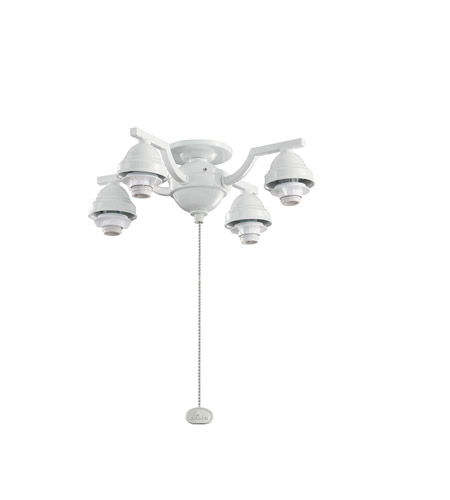Kichler Lighting 4 Arm Decorative Fitter Fan Fitter in White 350104WH