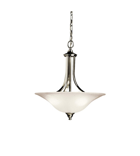 Kichler Lighting Dover 3 Light Inverted Pendant in Brushed Nickel 3502NI