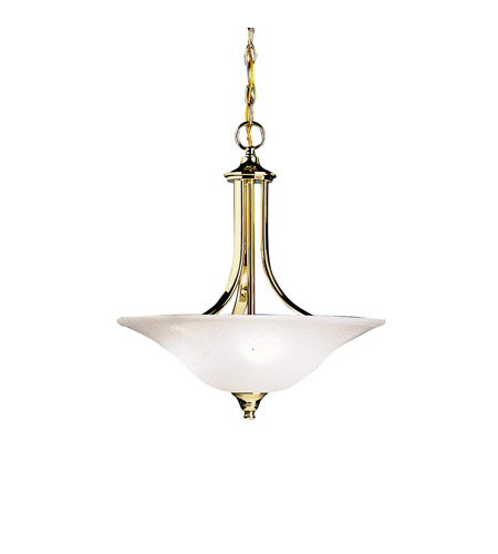 Kichler Lighting Dover 3 Light Inverted Pendant in Polished Brass 3502PB