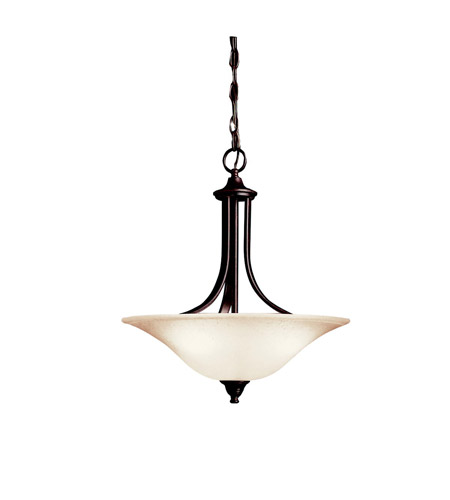 Kichler 3502TZ Dover 3 Light 18 inch Tannery Bronze Inverted Pendant Ceiling Light photo