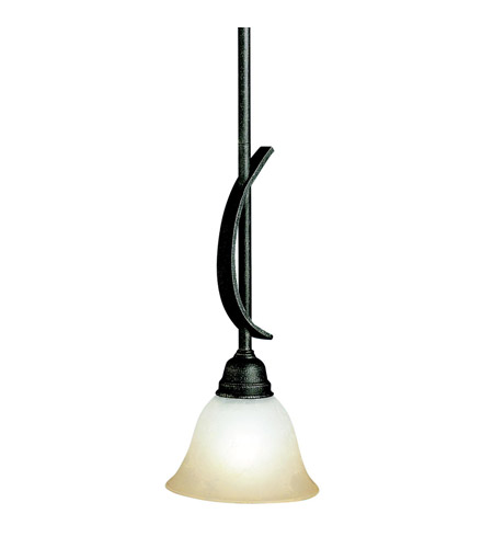 Kichler Lighting Pomeroy 1 Light Mini Pendant in Distressed Black 3541DBK photo