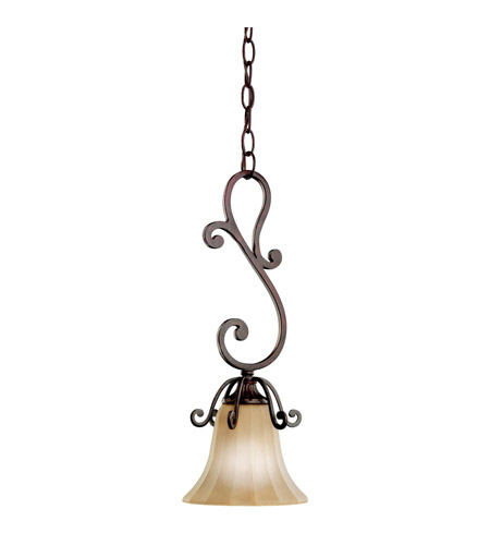 Kichler Lighting Cottage Grove 1 Light Mini Pendant in Carre Bronze 3557CZ