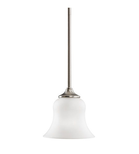 Kichler Lighting Wedgeport 1 Light Mini Pendant in Brushed Nickel 3584NI