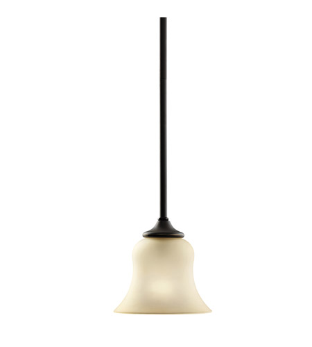 Kichler 3584OZ Wedgeport 1 Light 6 inch Olde Bronze Mini Pendant Ceiling Light photo