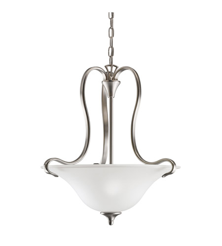 Kichler Lighting Wedgeport 2 Light Inverted Pendant in Brushed Nickel 3585NI