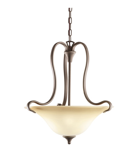 Kichler Lighting Wedgeport 2 Light Inverted Pendant in Olde Bronze 3585OZ