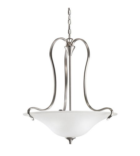 Kichler Lighting Wedgeport 3 Light Inverted Pendant in Brushed Nickel 3586NI