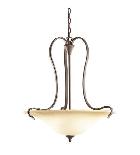 Kichler Lighting Wedgeport 3 Light Inverted Pendant in Olde Bronze 3586OZ photo