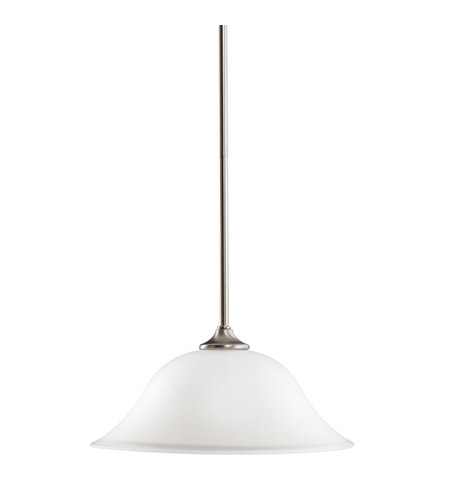 Kichler Lighting Wedgeport 1 Light Pendant in Brushed Nickel 3587NI
