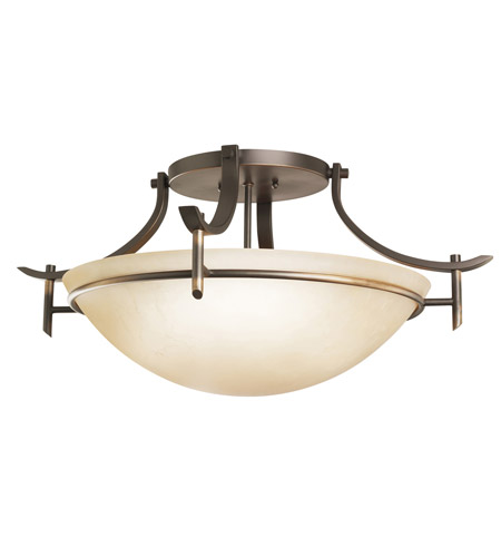 Kichler Lighting 3606OZ Olympia 3 Light Semi Flush Mount in Olde Bronze photo