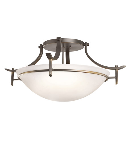 Kichler Lighting Olympia 3 Light Semi-Flush Mount in Olde Bronze 3606OZW photo