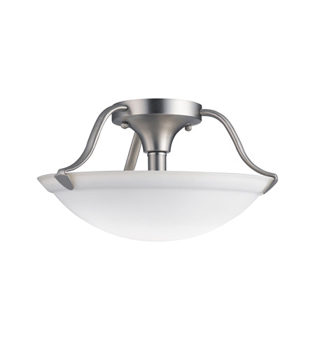 Kichler Lighting Signature 2 Light Semi-Flush in Brushed Nickel 3620NI photo