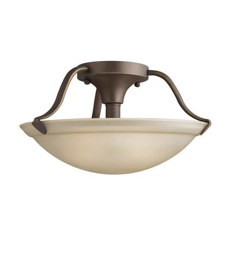 Kichler Lighting Signature 2 Light Semi-Flush in Olde Bronze 3620OZ