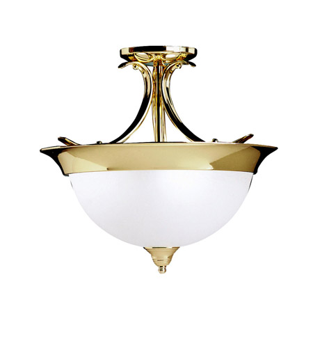 Kichler Lighting Dover 3 Light Semi-Flush in Polished Brass 3623PB