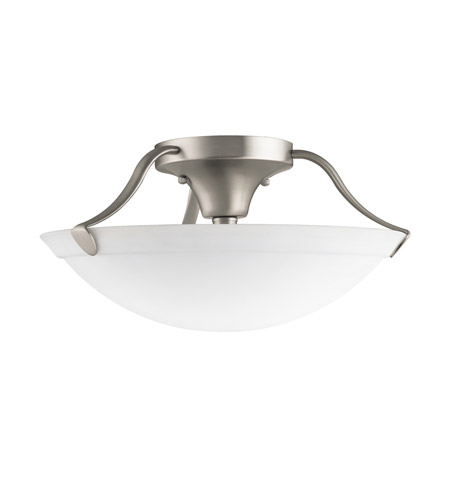 Kichler Lighting Signature 3 Light Semi-Flush in Brushed Nickel 3627NI