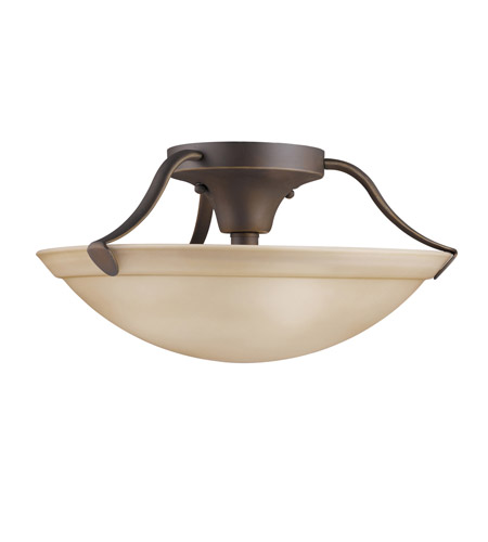 Kichler Lighting Signature 3 Light Semi-Flush in Olde Bronze 3627OZ photo