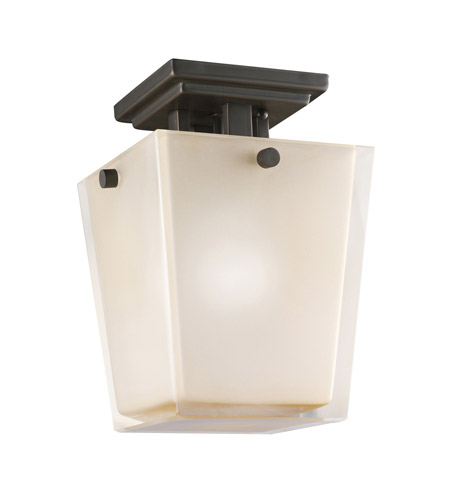 Kichler Lighting Urban Ice 1 Light Semi-Flush in Olde Bronze 3659OZ photo