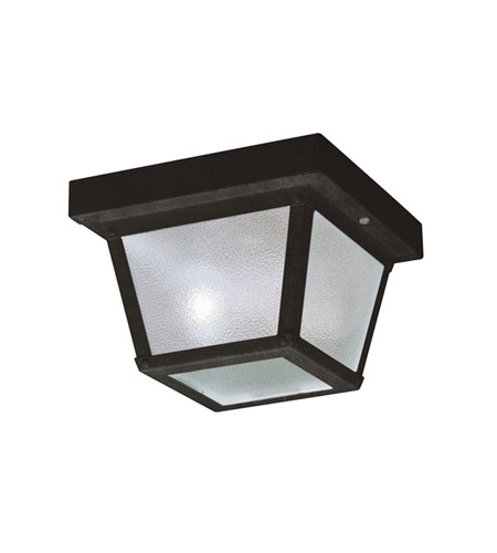 Kichler Lighting Signature 1 Light Outdoor Flush Mount in Black (Painted) 365BK