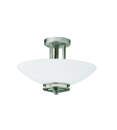 Kichler Lighting Hendrik 2 Light Semi-Flush in Brushed Nickel 3674NI photo