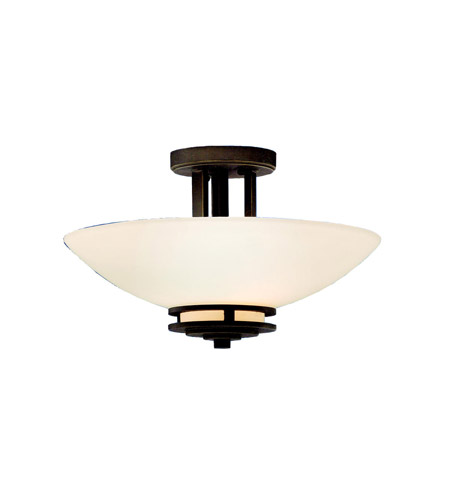 Kichler 3674OZ Hendrik 2 Light 15 inch Olde Bronze Semi-Flush Ceiling Light photo
