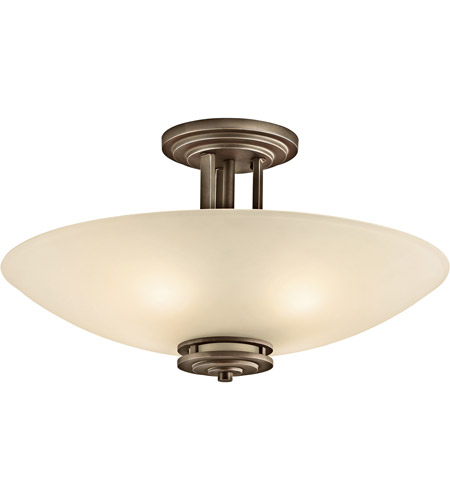 Kichler Lighting Hendrik 4 Light Semi-Flush in Olde Bronze 3677OZ