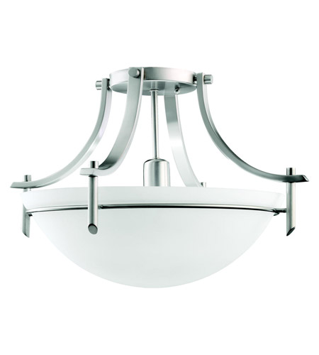 Kichler Lighting Olympia 1 Light Semi-Flush in Antique Pewter 3678AP