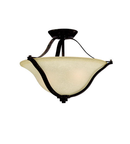 Kichler Lighting Langford 2 Light Semi-Flush in Canyon Slate 3681CST