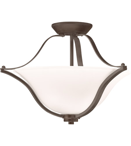 Kichler 3681OZ Langford 2 Light 19 inch Olde Bronze Semi-Flush Ceiling Light photo