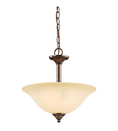 Kichler Lighting Langford 2 Light Semi-Flush in Canyon Slate 3694CST photo