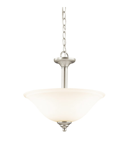 Kichler Lighting Wynberg 2 Light Inverted Pendant in Brushed Nickel 3694NI