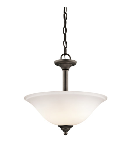 Kichler 3694OZW Armida 2 Light 15 inch Olde Bronze Semi-Flush Ceiling Light photo