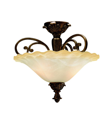 Kichler Lighting Cheswick 2 Light Semi-Flush in Parisian Bronze 3698PRZ photo