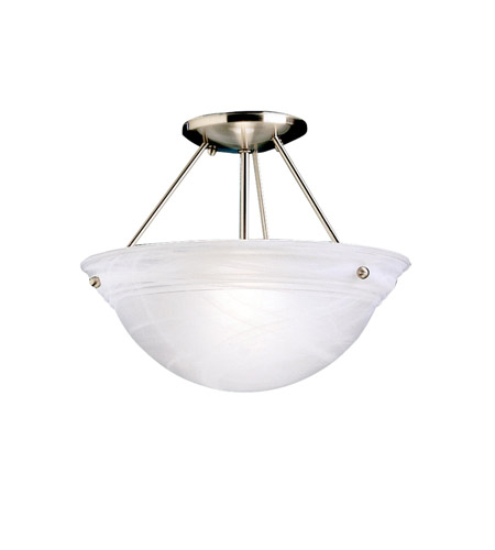 Kichler 3718NI Cove Molding Top Glass 2 Light 13 inch Brushed Nickel Semi-Flush Ceiling Light in Satin Etched Glass photo