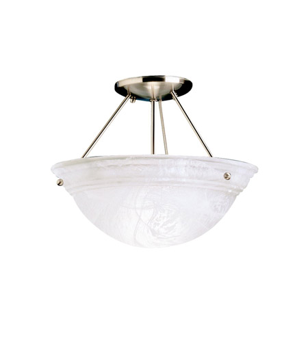 Kichler Lighting Cove Molding Top Glass 2 Light Semi-Flush in Brushed Nickel 3718NIA