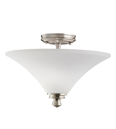 Kichler Lighting Wharton 2 Light Semi-Flush in Brushed Nickel 3719NI