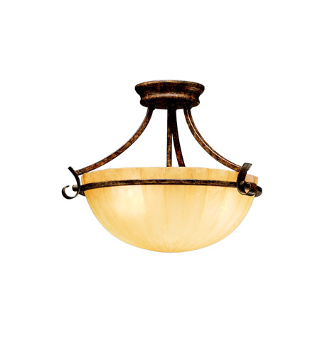 Kichler Lighting Northam 3 Light Semi-Flush in Lincoln Bronze 3724LBZ photo