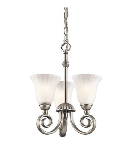 Kichler 3728NI Willowmore 3 Light 11 inch Brushed Nickel Chandelier Ceiling Light photo