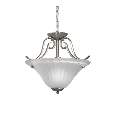 Kichler 3729NI Willowmore 1 Light 17 inch Brushed Nickel Semi-Flush Ceiling Light photo