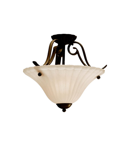 Kichler Lighting Willowmore 1 Light Semi-Flush in Tannery Bronze 3729TZ