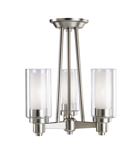 Kichler Lighting Circolo 3 Light Semi-Flush in Brushed Nickel 3743NI