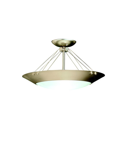 Kichler Lighting Signature 2 Light Semi-Flush in Brushed Nickel 3744NI photo