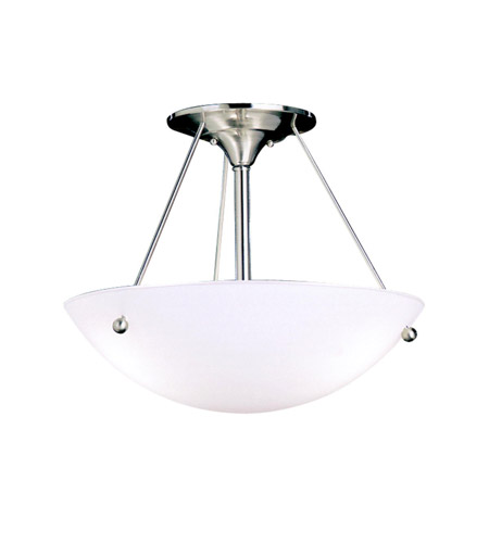 Kichler 3752NI Family Space 3 Light 18 inch Brushed Nickel Semi-Flush Ceiling Light in Standard photo