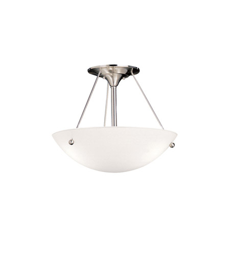 Kichler Lighting Signature 1 Light Fluorescent Semi Flush in Brushed Nickel 3752NIFL photo