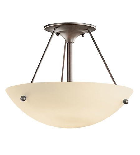 Kichler Lighting Signature 1 Light Fluorescent Semi Flush in Olde Bronze 3752OZFL photo