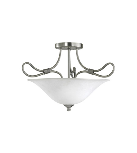 Kichler Lighting Stafford 2 Light Semi-Flush in Antique Pewter 3757AP
