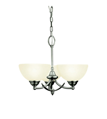 Kichler Lighting Lombard 3 Light Semi-Flush in Antique Pewter 3763AP