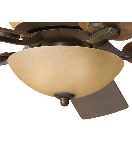 Kichler 380000OZ Olympia 3 Light Olde Bronze Fan Light Kit in Sunset Marble Glass photo