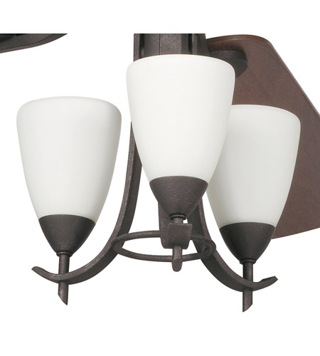 Kichler Lighting Olympia 3 Light Fan Light Kit in Distressed Black 380001DBK photo