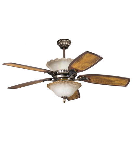 Kichler Lighting Golden Iridescence 3 Light Fan Light Kit in Oiled Bronze 380002OLZ photo
